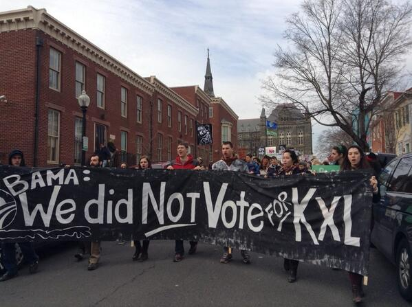 The #XLDissent march is underway. http://t.co/YE1BYUdWcD