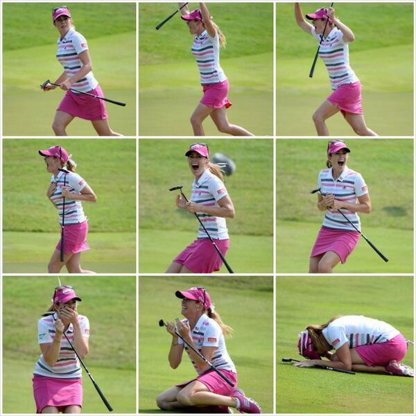 .@ThePCreamer's classic reaction to her winning putt @HSBCWomensGolf http://t.co/WkiLpRBVsS