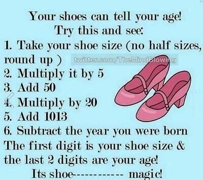 Your shoes can tell your age. http://t.co/0BeJ7ovpMd