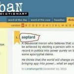 RT @pankajkumarpra: @Swamy39 Meaning of AAPTARDS COINED BY Guruji http://t.co/I2n2prW9xt