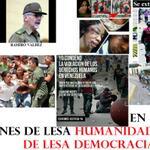 #CRIMENDELESAHUMANIDAD, DE LESA DEMOCRACIA, DE LESA #VENEZUELA #ResistenciaVzla #RAV #MaduroLaHayaTeEspera http://t.co/hkbQ2TJeq6