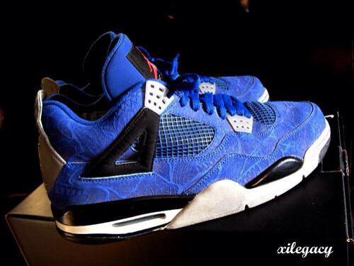 Air Jordan 4 'Blue Laser' Sample http://t.co/uxJv48gfMa