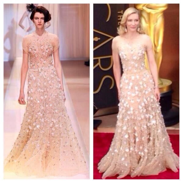 Bello! RT @HOLACOMDO: De la pasarela a la alfombra roja, Cate Blanchett vestida de @armani #Oscars2014 http://t.co/QULGXRv6MI