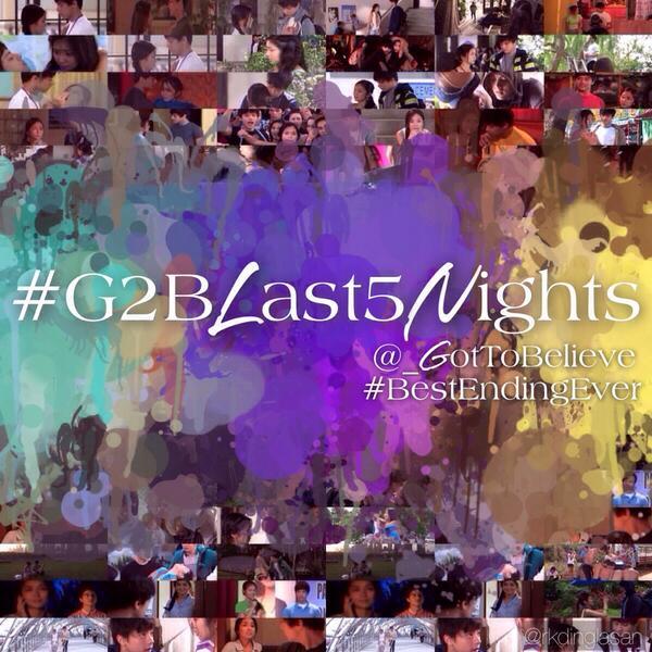 Hashtag tonight: #G2BLast5Nights! :) #g2b #gottobelieve #bestendingever http://t.co/WfDDkena1t