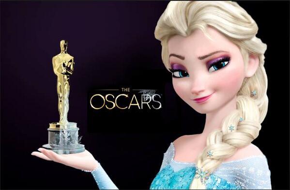 Elsa accepts her Academy Award: #Oscars http://t.co/uPxHheNujM