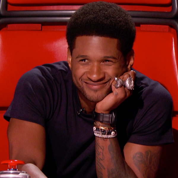 Usher haircut on the voice
