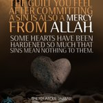 The guilt you feel after committing a sin is also a mercy from Allah... http://t.co/1VtBwmjJbh""