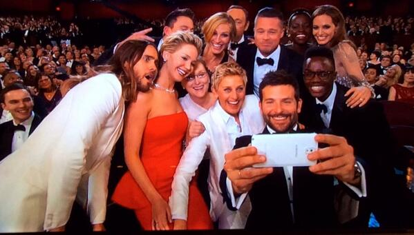What's about to become the most retweeted selfie ever #Oscars http://t.co/bAKNpHpdpe