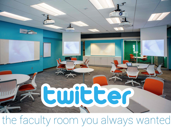 Twitter, the faculty room you always wanted! #edchat #edtechchat http://t.co/ybJhvyParq