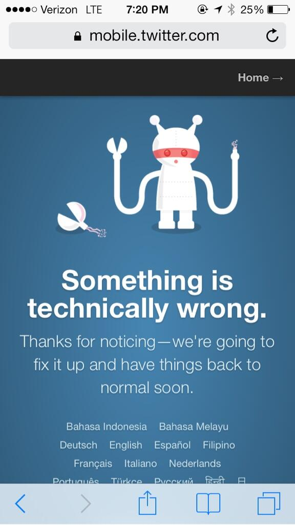 Did Twitter go down completely for a few minutes there? Ellen and the Oscars broke it. Haven't seen that in a while. http://t.co/WXc1hHsqUD