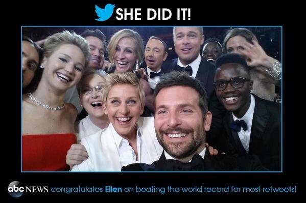 Gio Benitez (@GioBenitez): Congrats, @TheEllenShow! #SheDidIt #Oscars http://t.co/I9j9tXIiq0