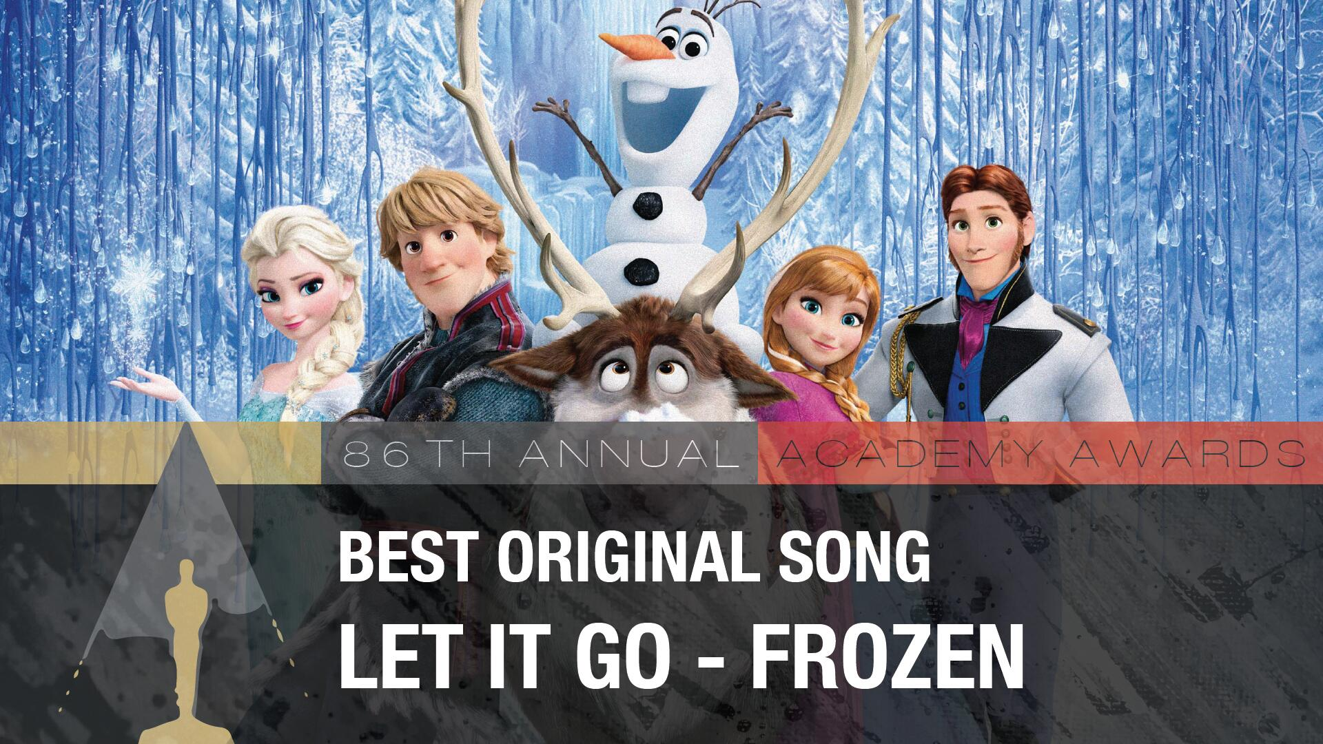 And the #Oscar for Best Original Song goes to ... 'Let It Go' - Frozen! (You totally called that, didn't you?) http://t.co/O2GgX8ZA7K