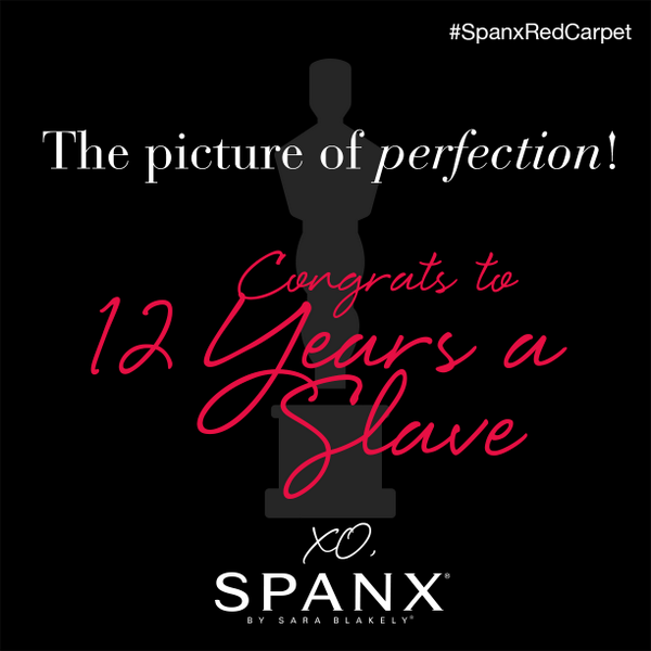 Congrats to the cast and crew of #12YearsASlave! #Oscars #SpanxRedCarpet #BestPicture http://t.co/5uhmKvFqos