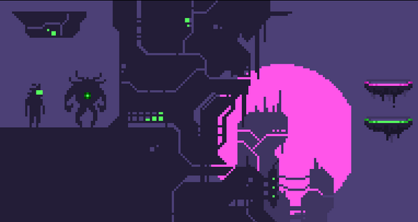 WIP: quick graphic preview for #cyberpunkjam game http://t.co/17RghnGGkS
