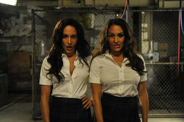 Zombies never looked so good. @WWE's @nicoleandbri Bella guest star on #Psych this Wed at 9/8c. #PsychNightmare #Raw http://t.co/DtWrR9g9v0