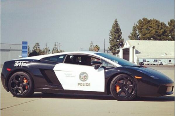 Los Angeles Police Department added some very fast cars to their fleet. http://t.co/Kge26Egalm