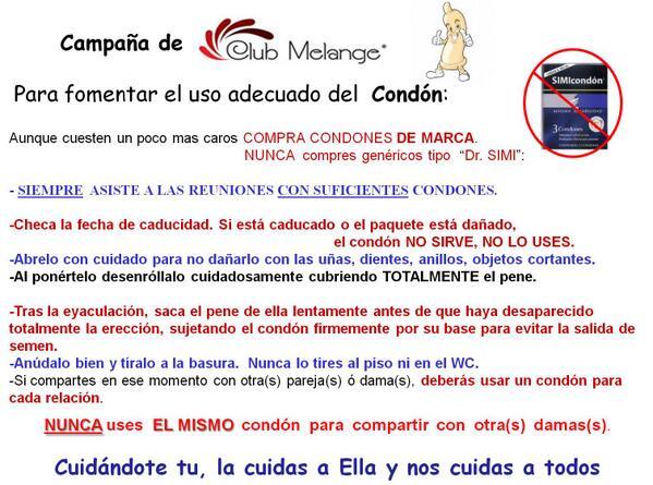 Club Melange (@ClubMelange): Para fomentar el uso adecuado del Condón: http://t.co/PGFuPHzEKf