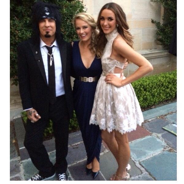 The happy couple! Mr. & Mrs. Nikki Sixx! @how2girl @NikkiSixx #nikkisixx #wedding #MotleyCrue http://t.co/5ugXMWhlPf