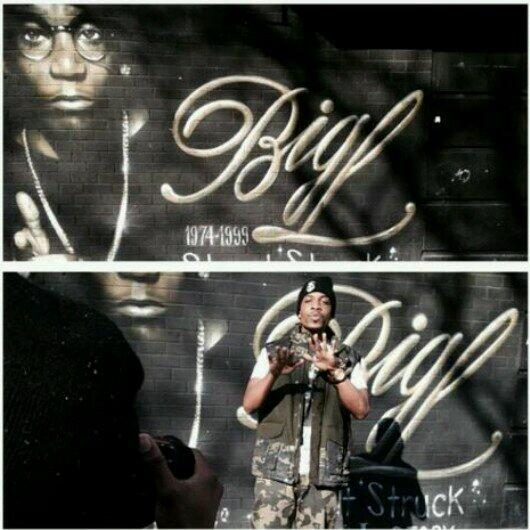 """Yday In Harlem at the Big L memorial 4 """"One Drag"""" video ft Me &  @Agallahthedon Prod by @Pirexbeats  #RipBigL #NYC http://t.co/UXoyMIgN2O"""