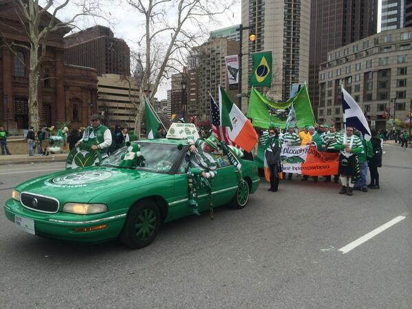@PloughBhoysCSC marching in the #PhillyStPatrick Parade. @celticfc http://t.co/8T6c4pLSYJ
