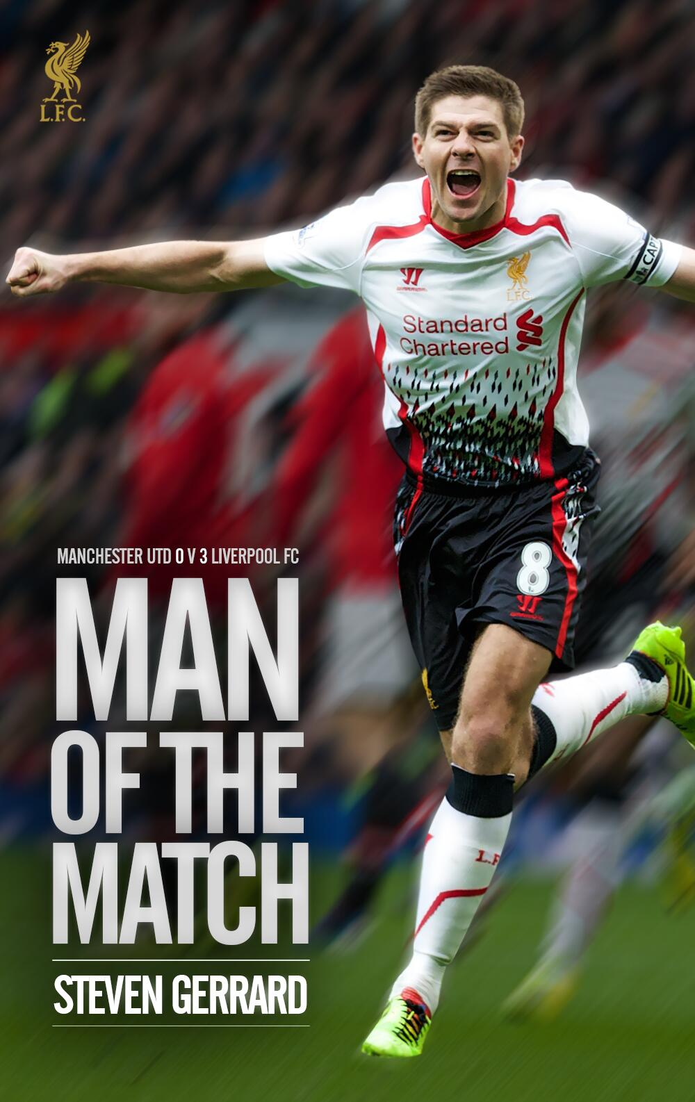 Congratulations to Steven Gerrard, who supporters have voted as their #LFC Man of the Match against Manchester United http://t.co/tIDhgg9bB5