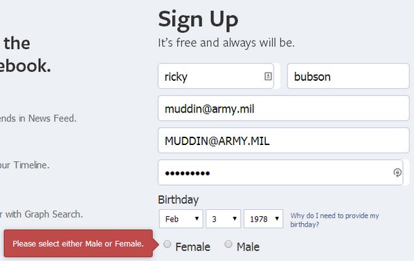 lol Facebook's Ninety Gender Options nonwithstanding you still have to pick either Male or Female when you sign up http://t.co/Cu8CaD7Px4