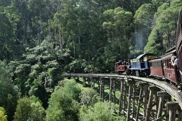 RT @olamy: Not @Dysneyland :-) but the #puffingbilly @Melbourne train was awesome!! http://t.co/IorE8FOG47