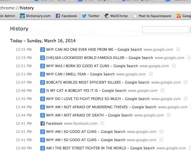 RT @Chelsea_Elle: Leaving my browser history open in case anyone in this coffee shop tries to steal my laptop when I'm in the bathroom. htt?