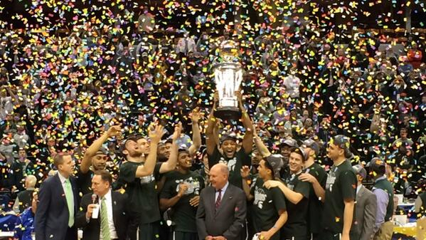 The 2014 #B1GTourney Champions: @MSU_Basketball. http://t.co/spwLbMxG9f