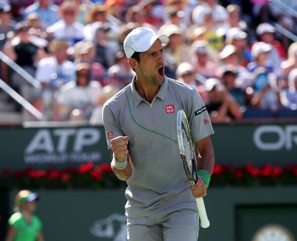 A 3rd #IndianWells win for @DjokerNole, who def. #Federer 3-6, 6-3, 7-6(3) #FedNole33 #BNPPO14 http://t.co/mIomIVwpTE http://t.co/MvfGLNtiOO