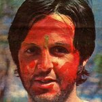 1968 :: Paul McCartney of The Beatles Playing Holi during their India Trip http://t.co/0rccSxgy4M