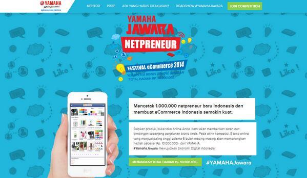 Daftarkan bisnis Anda di http://t.co/Hpx6SgNDa4 utk meraih hadiah inkubasi bisnis puluhan juta rupiah #YamahaJawara http://t.co/AKRztEYAOB