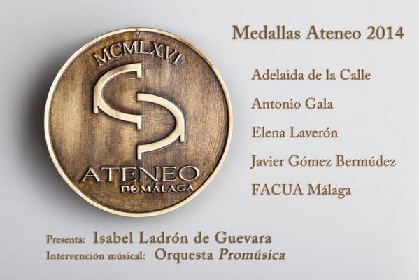 Medallas Ateneo de Málaga 2014 http://t.co/VhKTgH4v0N