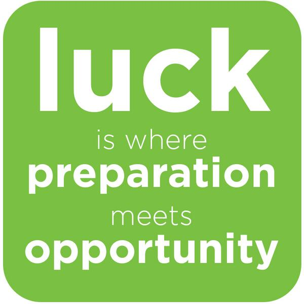 Luck is where preparation meets opportunity. #MotivationalMonday Happy St. Patrick's Day! http://t.co/DY8ix5A6tq