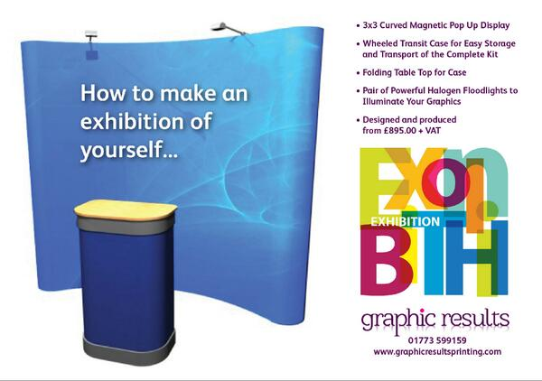 Ideal for the @EMN_TradeFair , exhibitions, Events 3x3 Curved Magnetic Pop Up stand Call 01773 599159 to order http://t.co/mqpnrSgeoT Pls RT