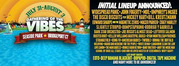 Here it is, the initial 2014 Gathering of the Vibes lineup!  What do you think, #VibeTribe? http://t.co/AOvOLdL5tr