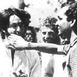 1968 ::  Paul McCartney of Beatles playing Holi with Journalist  Saeed Naqvi http://t.co/ZOH8Kdz5z6
