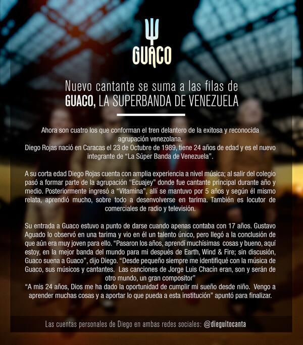 ¡Ahora somos CUATRO! El tren delantero de los guacos sigue creciendo. ¡Denle la bienvenida a nuestro @dieguitocanta! http://t.co/syrECRT1hP