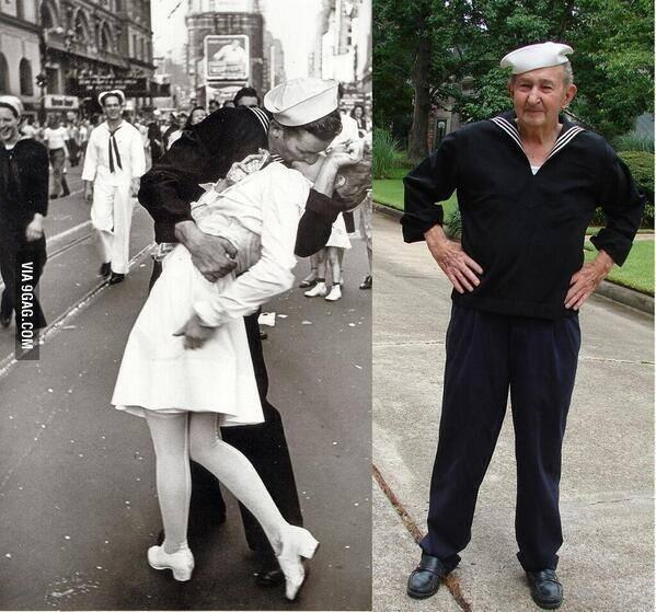 Vaitiare Mateos Bear (@vaitiaremateos): Falleció Glenn McDuffie a los 86, protagonista de la foto legendaria del beso con una enfermera (II Guerra Mundial) http://t.co/5kzaIYkwo9