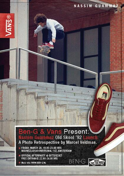 Ben G is proud to be the host of the Vans Nassim Guammaz Old Skool 92 launch   Read more here: http://t.co/sA9o4Ak6o5 http://t.co/qg3Kn8WzFT