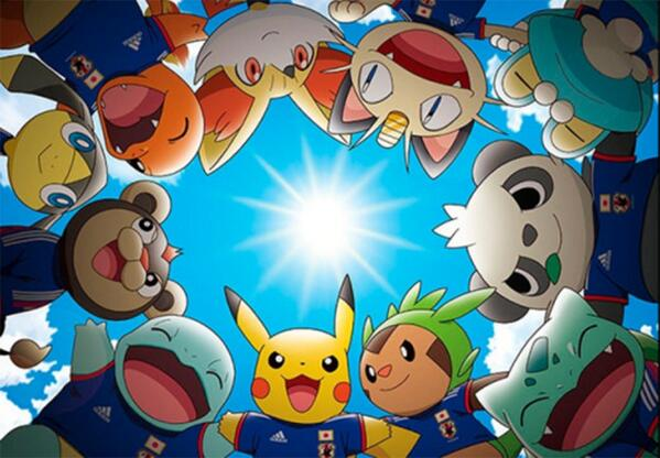 Japan's mascots for the World Cup are a squad's worth of @Pokemon. You now know who to support if you didn't qualify! http://t.co/S4YhLQQh4A