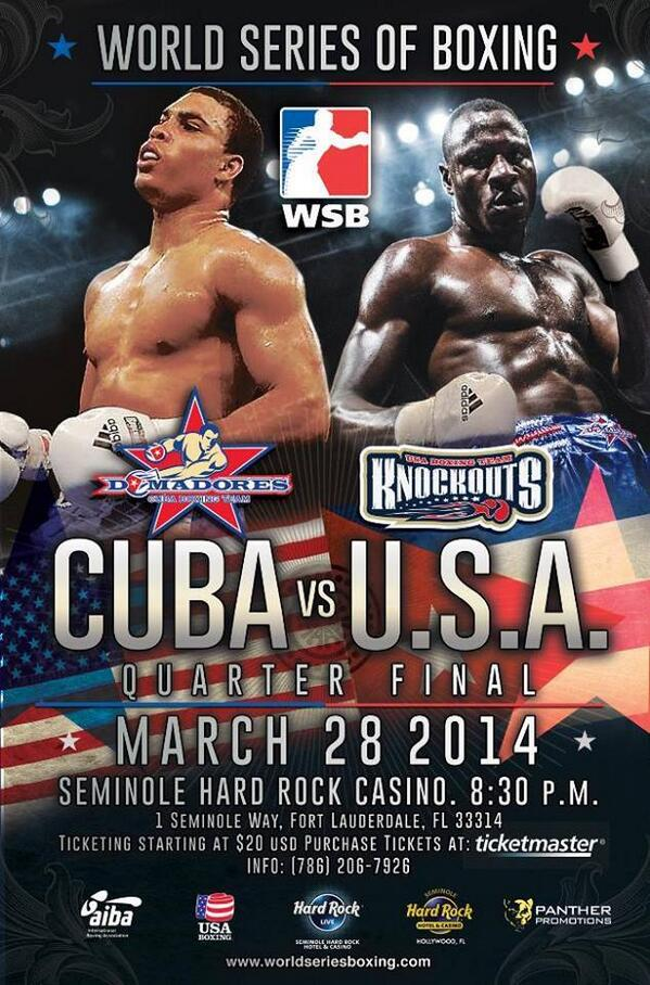 #BreakingNews @USKnockouts vs. @DomadoresdeCuba lineups http://t.co/CD2fd1JXvv #boxing #WSBIV @SHRHollywood http://t.co/lwC2BUXzAy