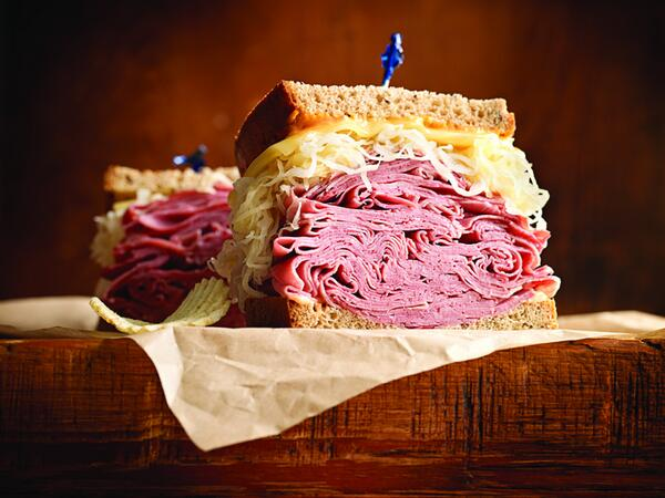 Pretty sure corned beef and cabbage are mandatory on #StPatricksDay. Perfect day for a #Reuben! http://t.co/wfMyhBDd03