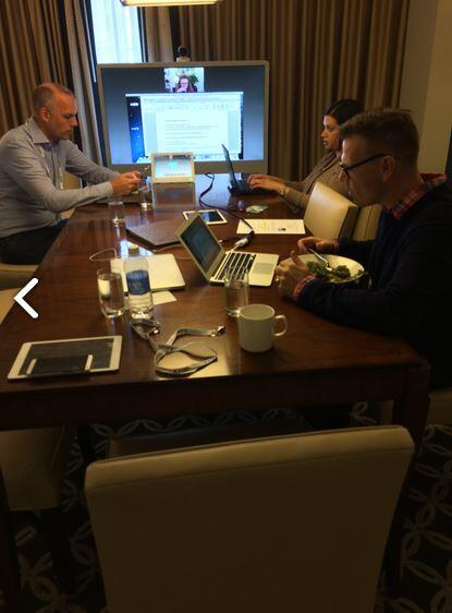 Behind the scenes with @rowantrollope at #enterprisecon  Our new MX system is so easy to build he's bought one along http://t.co/Gi5AL49oTs