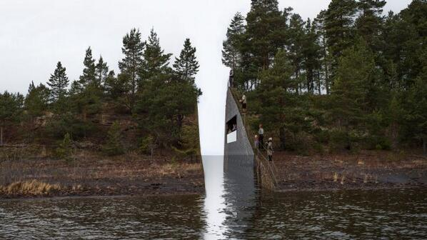 A gash built through a small Norwegian island will commemorate the site of a ghastly massacre http://t.co/E6UXM4Nb1B http://t.co/RS5Hg2AoQZ