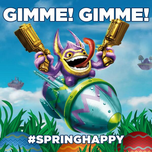 Want Springtime Trigger Happy? RT this and you might win him! #SpringHappy! Rules here: http://t.co/dAaPcl1BFF http://t.co/QNleXQltwW