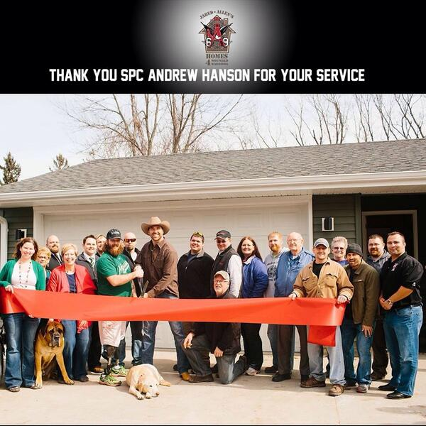 Great day today. Another home completed for an injured veteran. http://t.co/aUGnrEUVTb