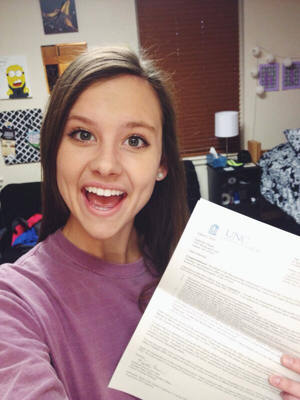 Gabi Dugal (@Yoo_GabaGaba): God is so good!! I am so excited to be accepted into UNC's nursing school!