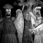 RT @devanmickell: The Meeping Angels. Alternatively titled, The Muppet Angels Take Manhattan. #BadSciFi @midnight http://t.co/QfK7EVmEL1