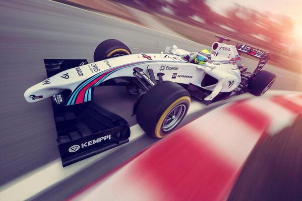 Best looking #F1 car in 2014 @WilliamsRacing #F12014 http://t.co/cxTQr31j9g